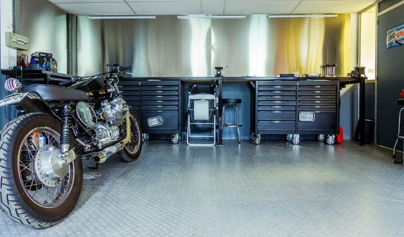Motorcycle In Garage Storage