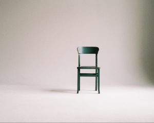 Minimalist chair in room