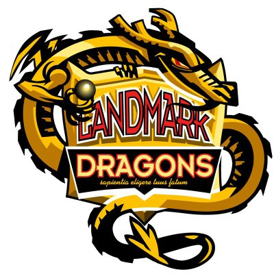 Landmark high school logo