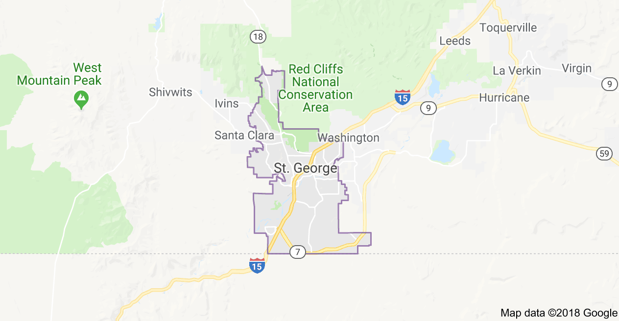 St. George city map