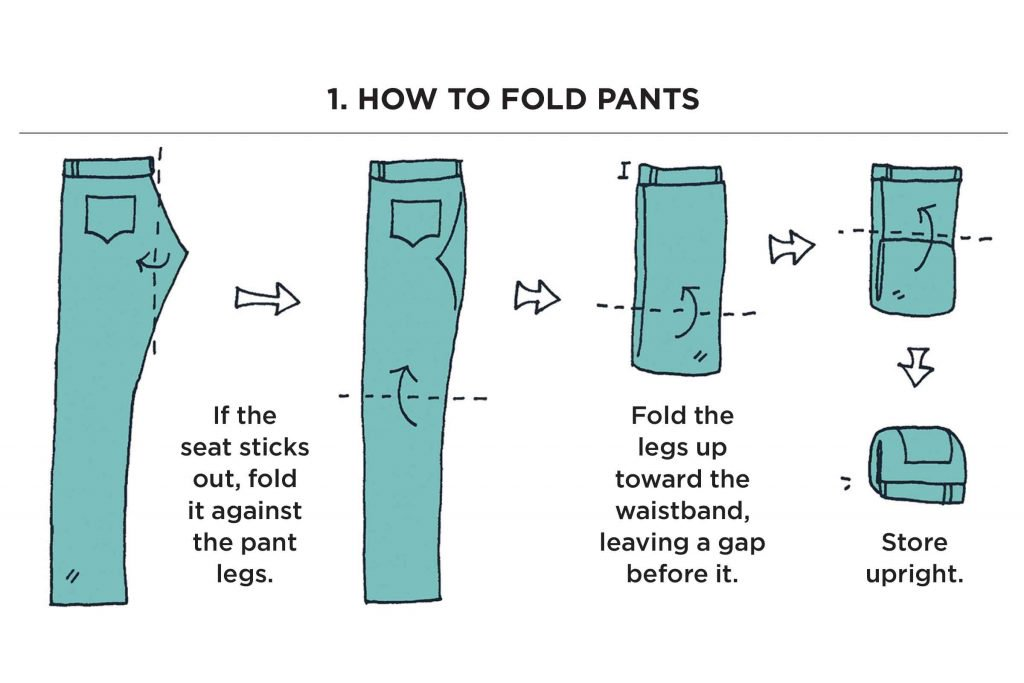 How to fold pants like Marie Kondo