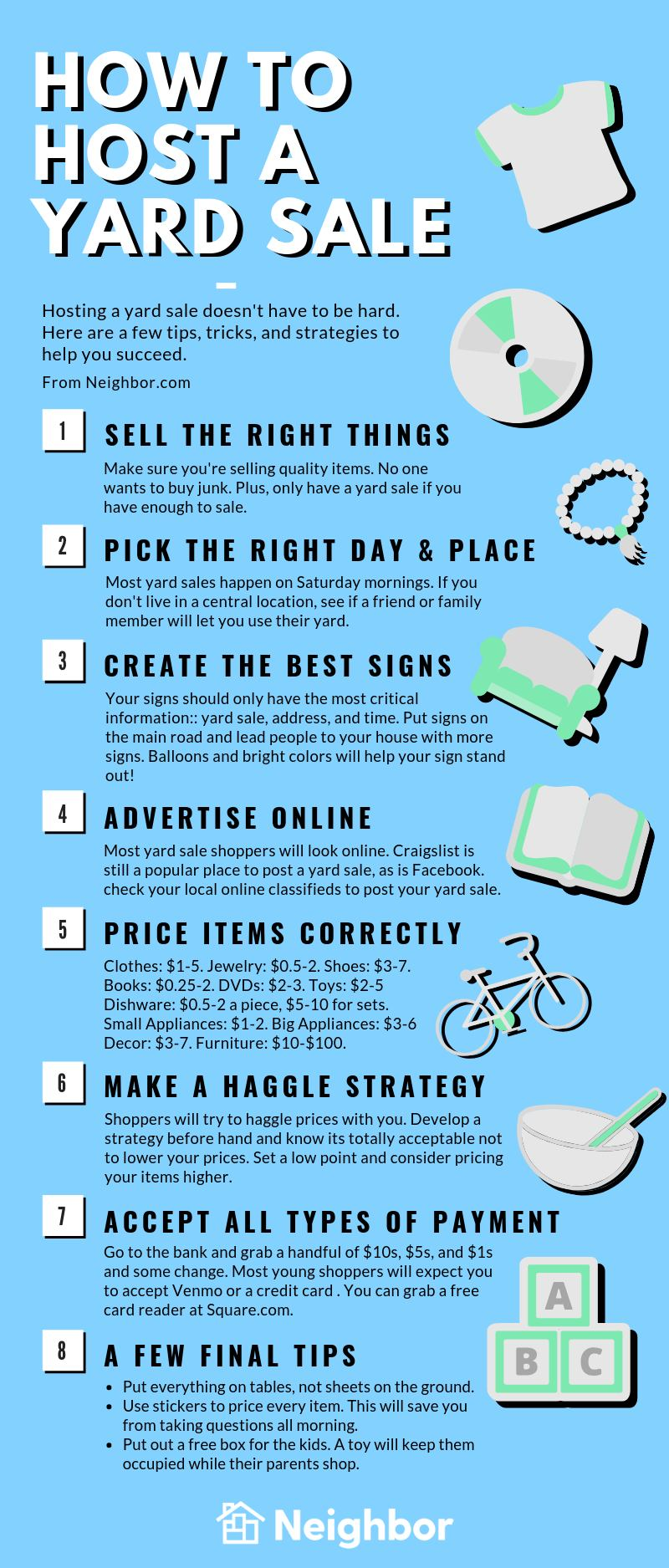 How to Host a Yard Sale infographic