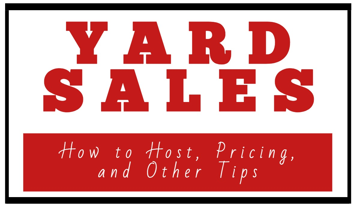 Yard sales how to host