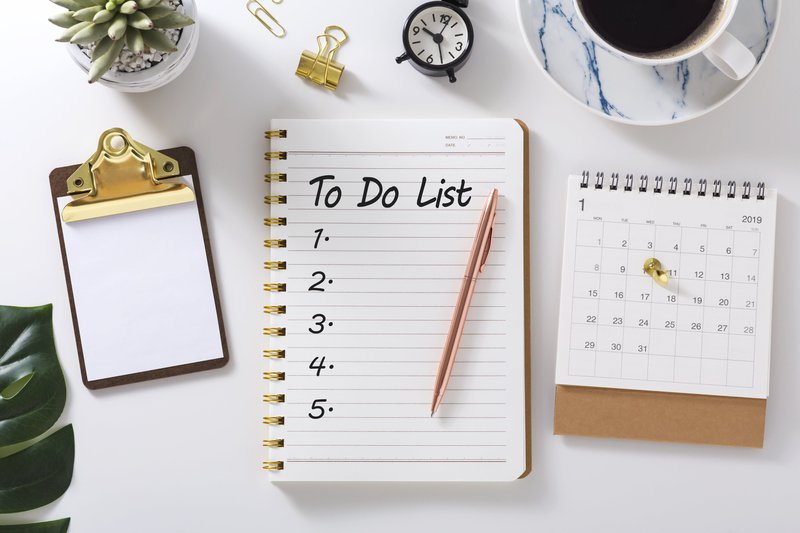 Make to-do lists daily
