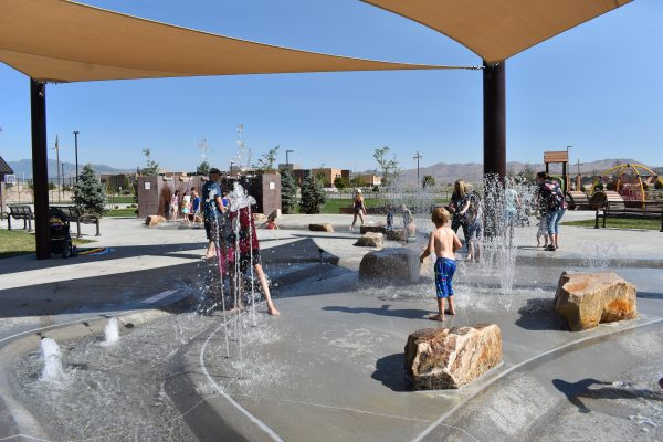 Cory Wride Memorial Park Splash Pad, Eagle Mountain, Utah