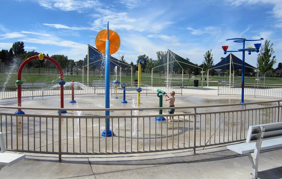 Creekside Park Splash Pad, Alpine, Utah