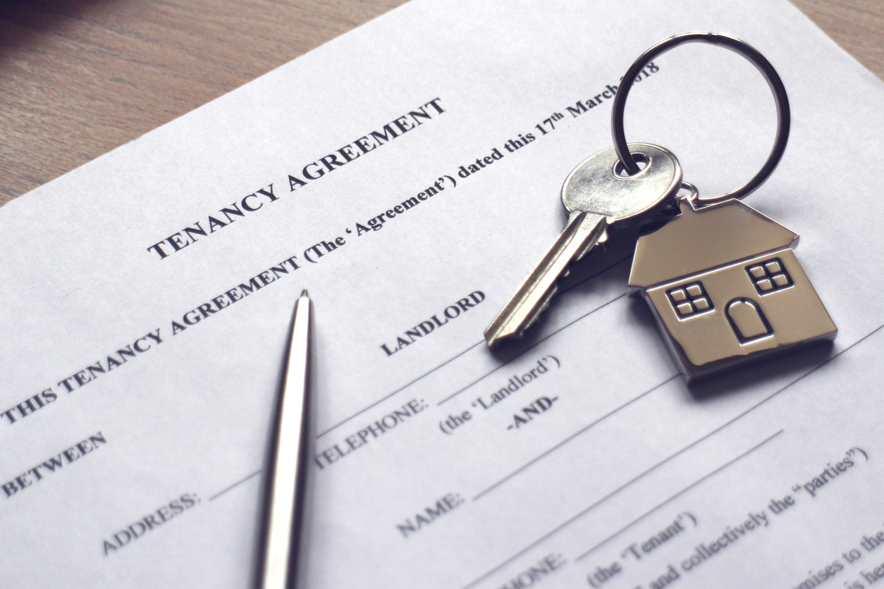 A universal lease agreement and a pair of keys