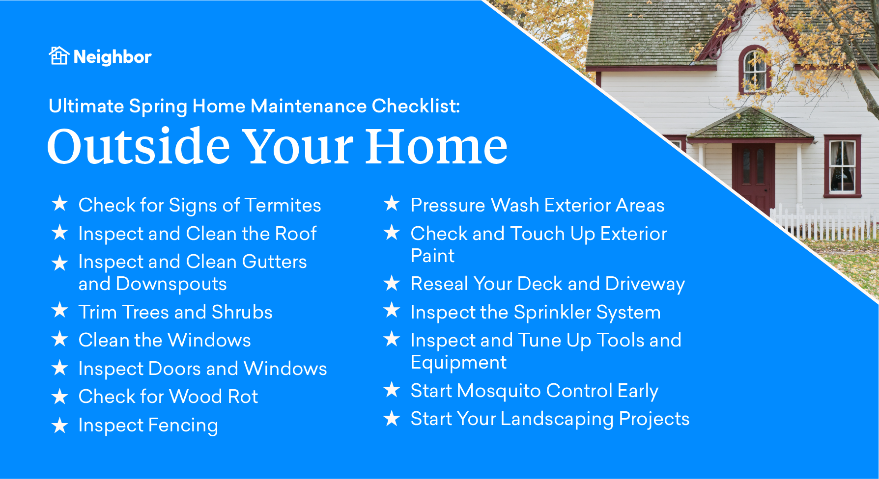 Spring maintenance outside your home