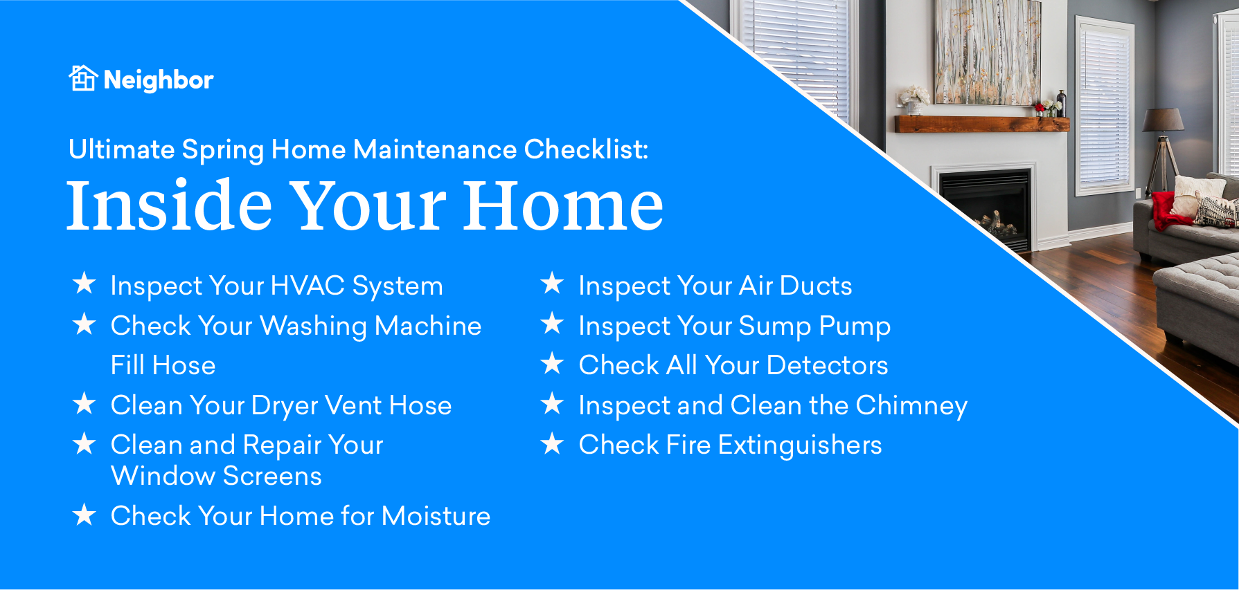 Spring maintenance inside your home