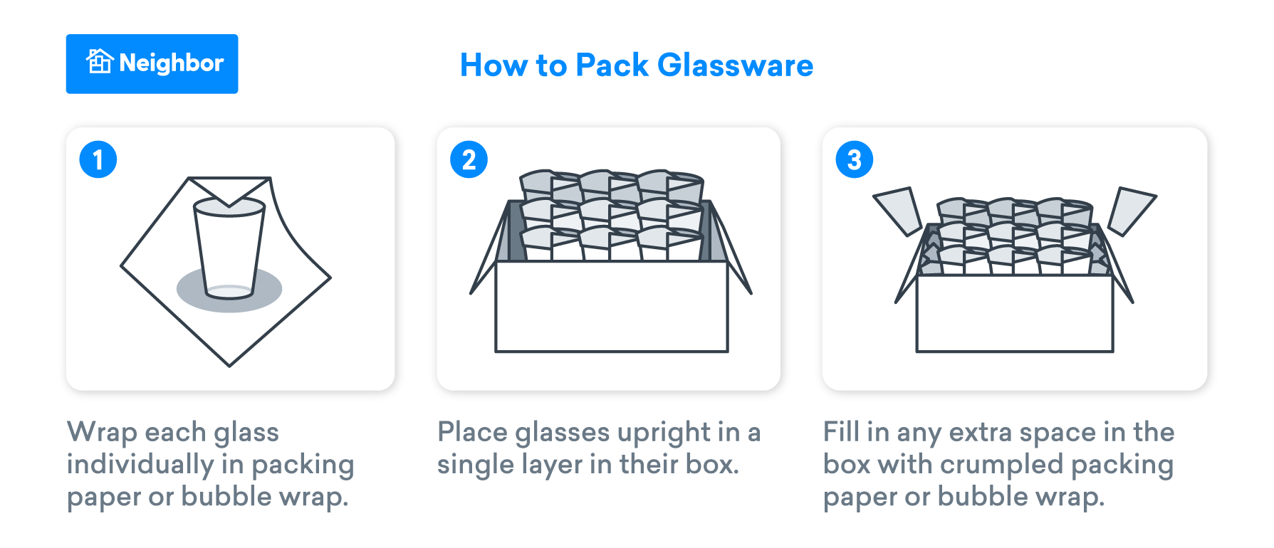 How to pack glassware