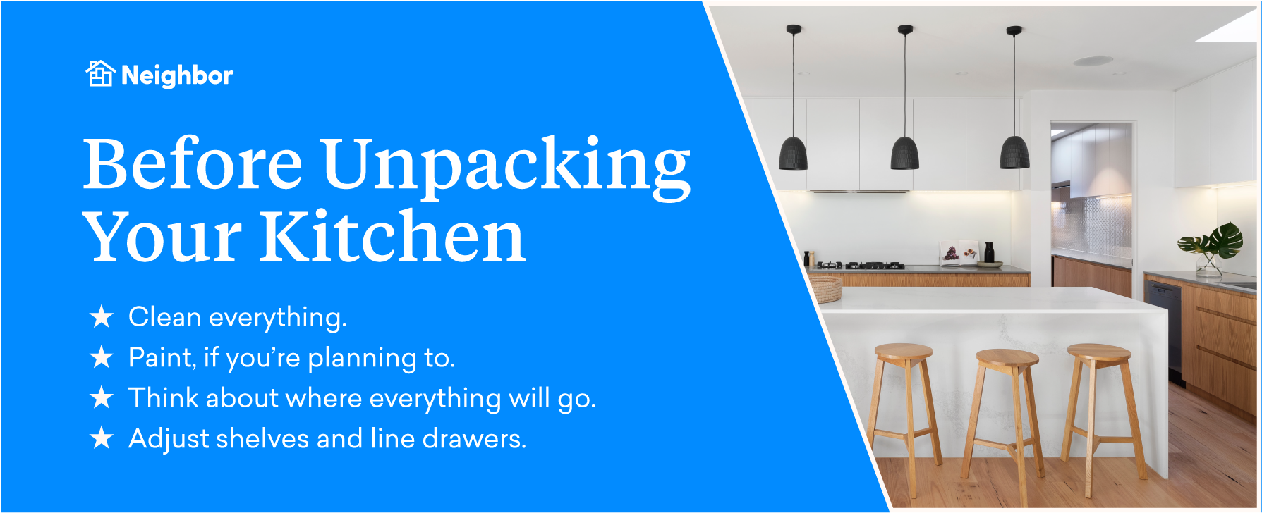 Get your new kitchen ready to move in