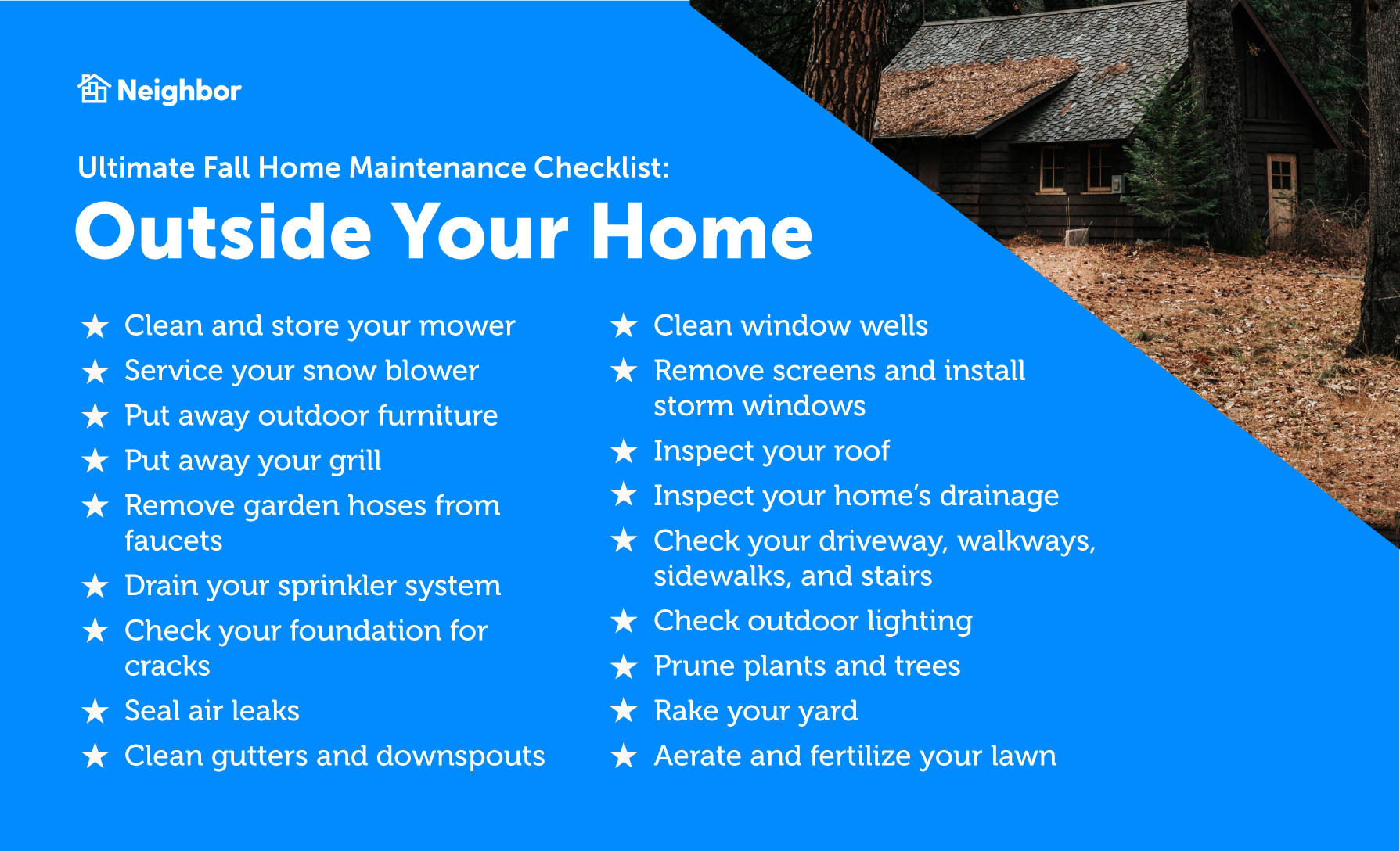 Fall maintenance outside your home